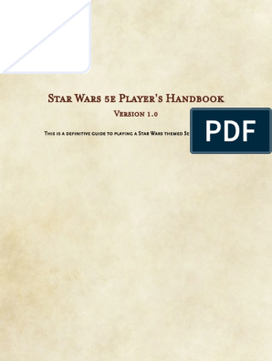 Star Wars 5e _ Player's Handbook pdf | Elf (Dungeons