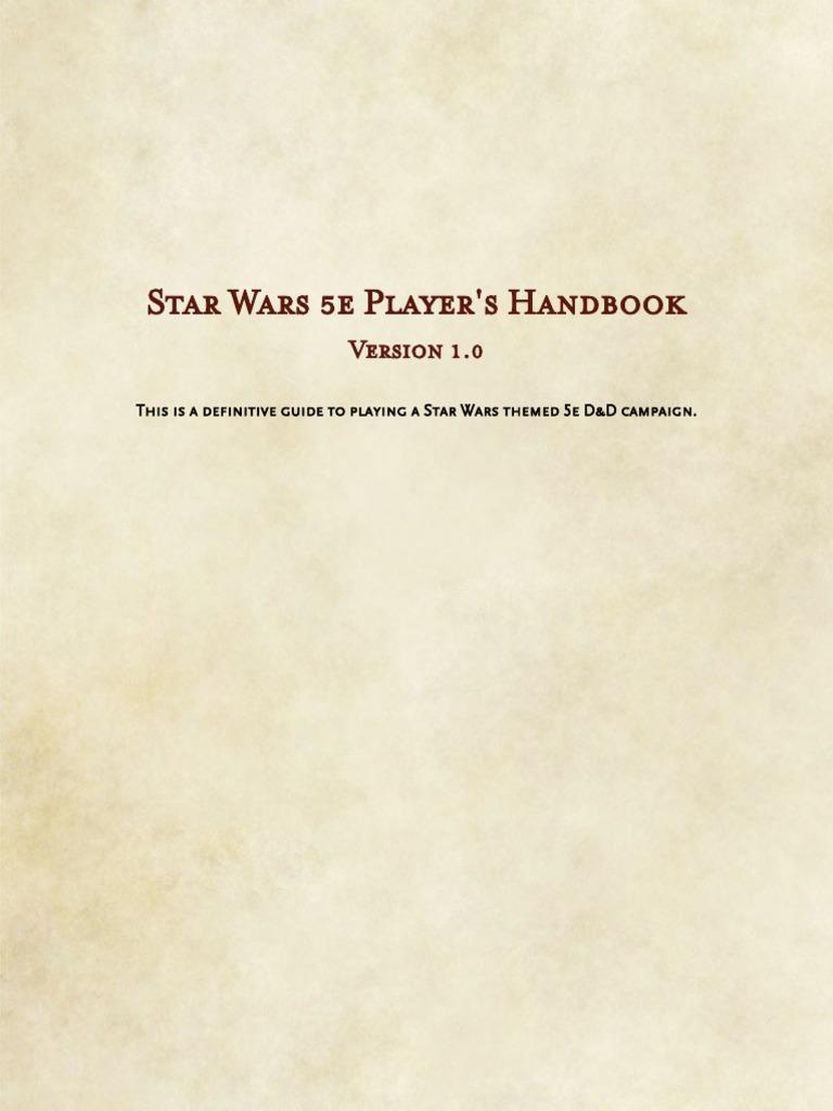 Star Wars 5e _ Player's Handbook pdf | Elf (Dungeons
