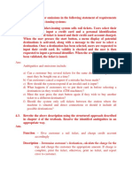 Discover Ambiguities or Omissions in the Following Statement of Requirements for Part of Ticket