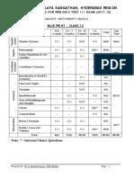 Maths Class Ix Periodic Test III Sample Paper 02