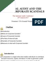 ICPAK Internal Audit the Rising Corporate Scandals 29.3.2017