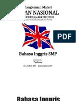 Rangkuman Materi UN Bahasa Inggris SMP