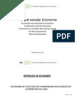 Porquê Estudar Economia-I