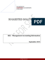Ke2 Management Accounting Information Sep 2015 Tamil Answer