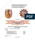 Informe Final de Instalaciones Electricas y Sanitarias