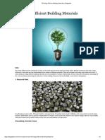 Energy Efficient Materials List