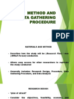 IMRAD DepEd Lecture - Method and Data Gathering Procedure
