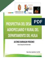 Prospectiva Del Desarrollo Agropecuario y Rural Del Departamento Del Huila 2016