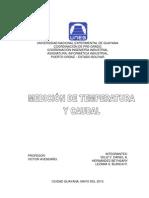 Medición de Temperatura y Caudal