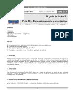 NPT _ 17 - Brigada de incêndio - Parte 2 - dimensionamento e orientações - 2017