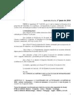 2010_Calendario Académico_Humanidades UNMDP