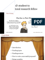 Theme 4 - Careers 'From PhD Student to Postdoctoral Research Fellow' by Flora Gröning