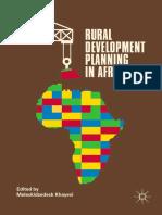 Khayesi 2018-Rural Development Planning in Africa