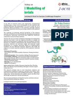 Two Days Hands on Workshop Computational Modelling of Polymeric Materials