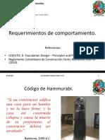 20150813 Requerimientos de Comportamiento en Las Cimentaciones