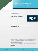 Filo Politicas