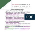 pronombres interrogativos y el uso de how+adjet