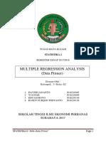Makalah Statistika 2 Tentang MRA - MULTIPLE REGRESSION ANALYSIS (Data Primer)
