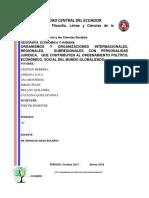 Organismos y Organizaciones Internacionales Regionales y Sub Regionales (1)
