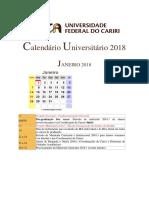 01- Calendrio Universitrio 2018