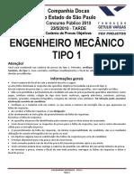 Codesp Engenheiro Mecânico Tipo 1