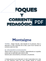 Enfoques y Corrientes Pedagogicas