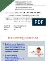 Dosificación Curricular