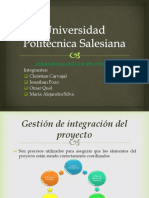 4. Gestion de La Integracion de Proyectos