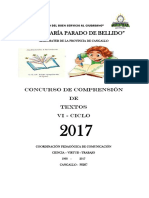 Comprensión de Textos Escritos Vi IE MARIA PARADO DE BELLIDO - CANGALLO- AYACUCHO 2017