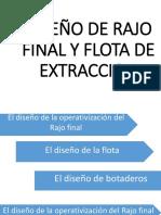 Diseño de Rajo Final y Flota de Extraccion