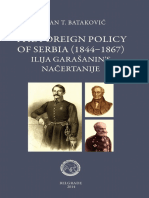 The Foreign Policy of Serbia 1844-1867 .