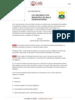 Lei Organica 1 1990 Belo Horizonte MG