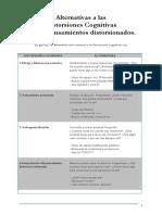 Alternativas a Las Distorsiones Cognitivas