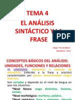 4.- El Análisis Sintáctico y La Frase