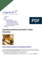 Supuestos Prácticos de Primaria_ Temas Frecuentes
