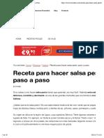 Pesto Casero - Comedera.com