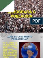 Demografia o Poblacion