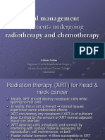 Oral Management of Patients Undergoing Radiotherapy and Chemotherapy
