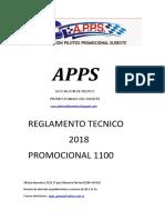 Reglamento Tecnico 2018 Promocional 1100 APPS