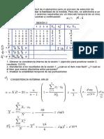 Psm1. Test Retest y Kr-20