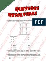 Exercício Resolvido 2 - Estatística -Concurso