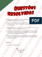 Exercício Resolvido 1 - Conjuntos