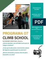 CEREZA WALL, Programa Climb School 20171