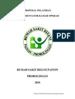 Proposal Pelatihan Instrumentator Kamar Operasi
