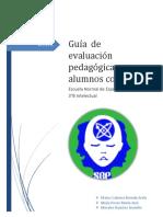 Guía de Evaluación Pedagógica Para Alumnos Con D.I. Intelectual B. Equipo 4