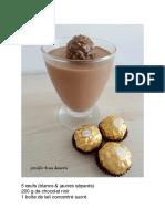 Recette Mousse Ferrero