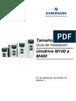 Unidrive m100 to m400 Instalación