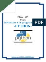 Cours Python ARROU