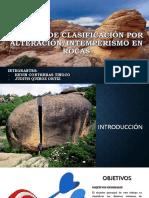 Sistema de Clasificación Por Alteración-Intemperismo en Rocas Ppt Final