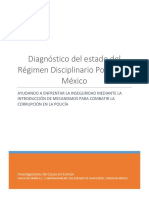 Diagnostico Regimen Disciplinario